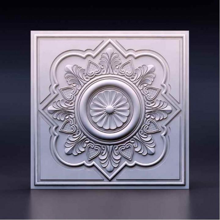 Гипсовая 3D-панель Азия для декоративной отделки стен