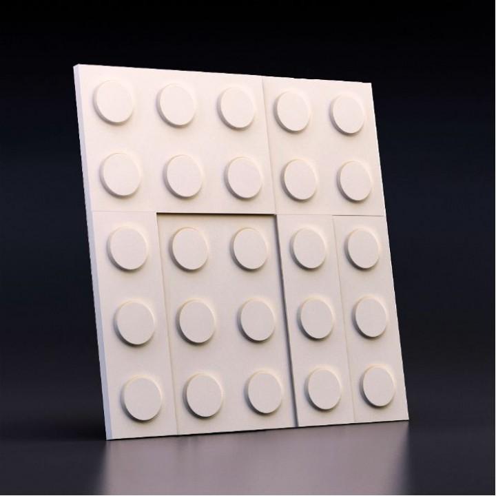 Гипсовая 3D-панель Конструктор для декоративной отделки стен