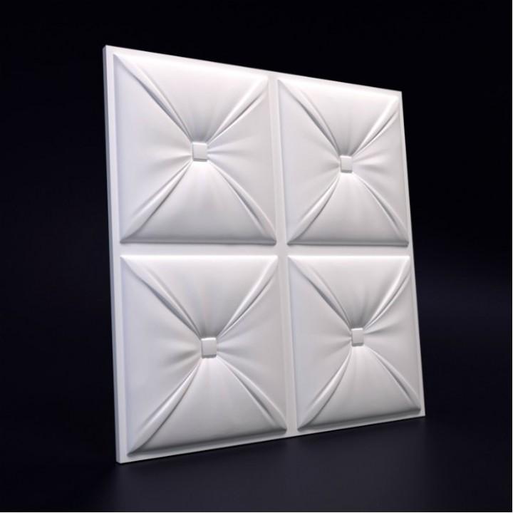 Гипсовая 3D-панель Кожа Каретная для декоративной отделки стен