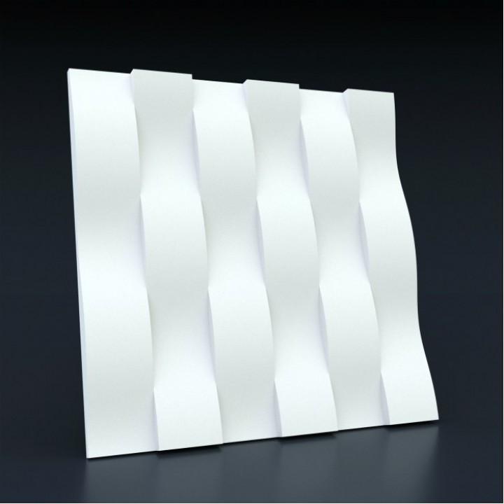 Гипсовая 3D-панель Ламелия для декоративной отделки стен